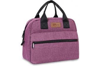 (Large Purple) - buringer-HOMESPON Insulated Lunch Bag Lunch Box Cooler Tote Box Cooler Bag Lunch Container for Women/Men/Work/Picnic (Large Purple)