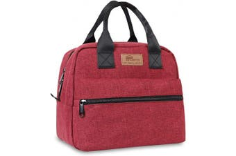 (Large Red) - buringer-HOMESPON Insulated Lunch Bag Lunch Box Cooler Tote Box Cooler Bag Lunch Container for Women/Men/Work/Picnic(Large red)