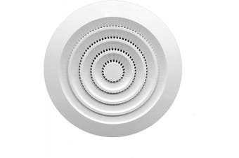 (5'' Inch, White - Plastic) - Round Air Vent ABS Louvre Grille Cover White Soffit Vent with Built-in Fly Screen Mesh for Bathroom Office Kitchen Ventilation (13cm Inch, White - Plastic)
