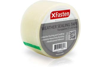 XFasten Transparent Window Weather Sealing Tape, 5.1cm x 30 Yards, Clear Window Draught Isolation Sealing Film Tape, No Residue