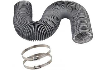 Vent Duct Hose 10cm 3.7m, CBTONE Flexible 4-Layers Aluminium Dryer Vent Hose Air Hose Great for HVAC Duct, Clothes Dryer Duct, Air Duct (2 Clamps Included)