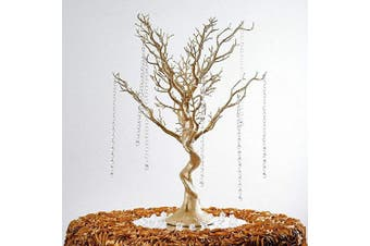 "Acmee Gold Manzanita Tree for Wedding Banquet Party Event Tabletop Centrepiece Decoration,30 ""Artificial Tree for Table Decoration Ornament Hanging"