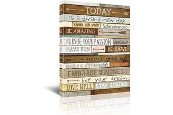 (12x16, brown) - Inspirational Wall Art for Office Quotes Theme Wall Decor for Women Motivational Canvas Prints Framed Wall Art for Bathrooms Motivational Modern Office Decor Canvas Art Wall Decor Office Size 12x16