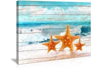 (30cm  x 41cm , starfish) - Bathroom Wall Art Board Beach Sea Starfish Wall Decor Bedroom Decor Prints Canvas Wall Art Ocean Decor Small Framed Artwork for Walls Modern Paintings on Canvas Prints (Starfish, 30cm x 41cm )