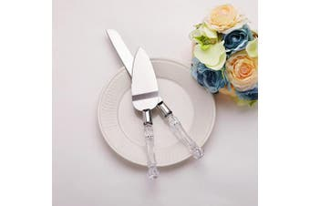 (Silver) - AW BRIDAL Wedding Cake Knife and Server Set - 13 personalised cake server set- Gift for Wedding, Anniversary, Engagement, Birthday