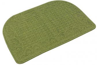 (27*46cm , Green) - 70cm X 46cm Anti Fatigue Kitchen Rug Mats are Made of 100% Polypropylene Half Round Rug Cushion Specialised in Anti Slippery and Machine Washable (Green 1pcs)