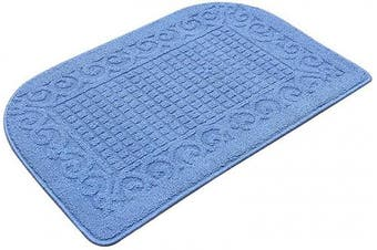 (32*50cm , Blue) - 80cm X 50cm Anti Fatigue Kitchen Rug Mats are Made of 100% Polypropylene Half Round Rug Cushion Specialised in Anti Slippery and Machine Washable (80cm x 50cm Blue 1pc)