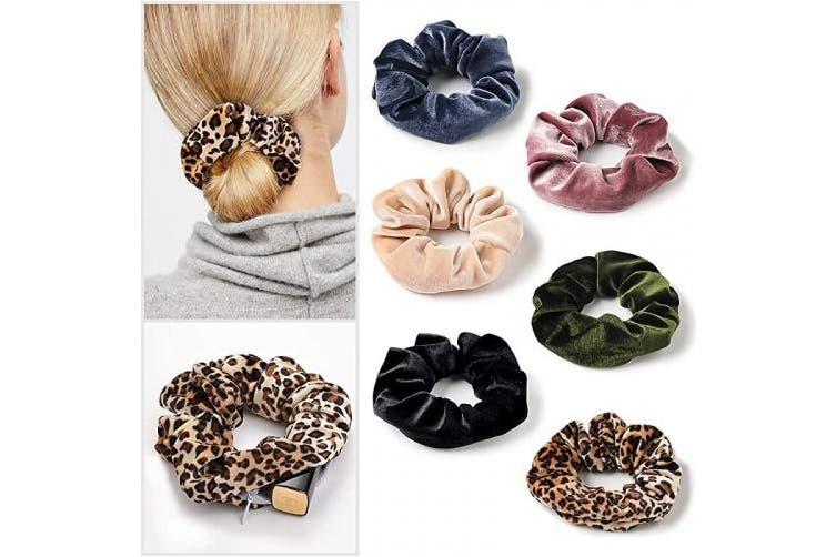 (LLCQ-009) - Velvet Pocket Scrunchies with Zipper Stash Scrunchy Hair Ties