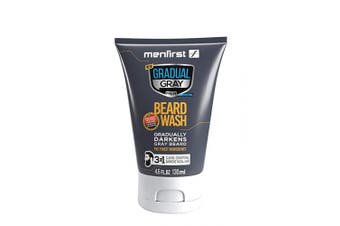 (Single) - MENFIRST Gradual Grey Darkening Beard Wash For Men, Facial Hair Wash Cleans, Conditions, And Gradually Reduces White Beard Colour w/Every Wash, Natural looking results - Clean Ingredients, 140ml