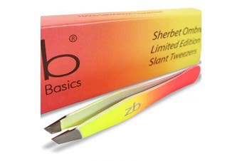 (Sherbet) - Zizzili Basics Tweezers - Limited Edition Sherbet Ombre Slant Tip - Best Tweezer for Eyebrow, Facial Hair Removal and your Precision Needs - The Perfect Gift!