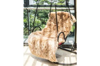 (Rectangular Brown, 80 X 180 CM) - HLZDH Faux Fur Rug Soft Fluffy Rug Shaggy Rugs Faux Sheepskin Rugs Floor Carpet for Bedrooms Living Room Kids Rooms Decor (80 X 180 CM, brown)