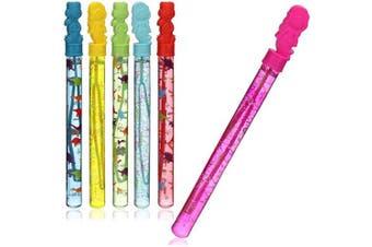 com-four® 6x Bubble Wand - Soap Bubble Sword - large soap bubbles for birthdays, garden parties and weddings - 35 cm (06 pieces - mermaid/dragon)