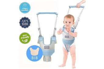 (Blue-a) - Baby Walking Assistant,Autbye Adjustable Toddler Walking Harness Handle Baby Walker with Detachable Crotch & Bib,Breathable and Comfortable for Toddlers Infant Learning to Walk (Blue-A)