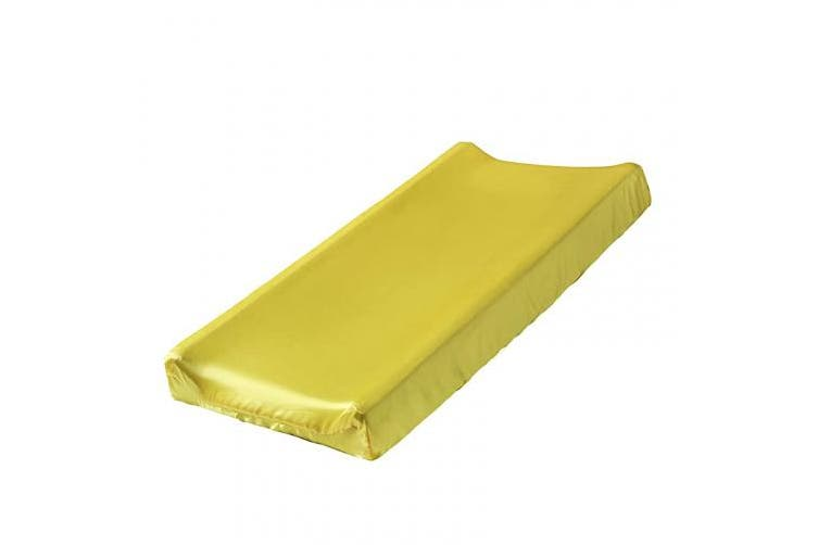 (Yellow) - Pro Goleem Satin Changing Pad Cover Great for Baby Hair Yellow Unisex Changing Table Sheet