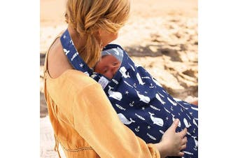 (Blue) - UHINOOS Nursing Cover,Infinity Soft Breastfeeding Cotton for Babies with No See Through Cotton for Mother Nursing Apron for Breastfeeding (Blue)