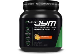 (20 Servings, Orange Mango) - Pre JYM Pre Workout Powder - BCAAs, Creatine HCI, Citrulline Malate, Beta-Alanine, Betaine, and More | JYM Supplement Science | Orange Mango Flavour, 20 Servings