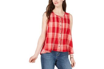 (X-Large, Summer Check) - Style & Co. Womens Cotton Plaid Shirt