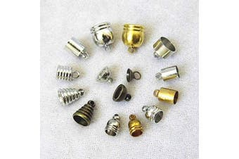 Batino 20pcs Metal End Caps Clasps DIY Necklace Jewellery Findings Making Accessories