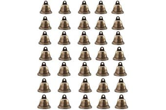 Vintage Bronze Jingle Bells, Adv-one 35Pcs Metal Bell for Dog Training Doorbell Wind Chimes Making Art Crafts, Christmas Decorations