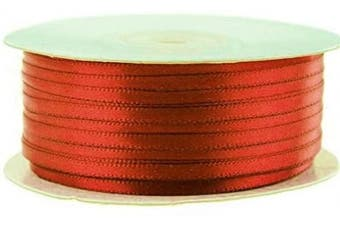 (Red) - Ben Collection 0.3cm X 100 Yard Double Faced Satin Ribbon Art & Sewing Party Favour (Red)