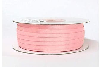 (Light Pink) - Ben Collection 0.3cm X 100 Yard Double Faced Satin Ribbon Art & Sewing Party Favour (Light Pink)