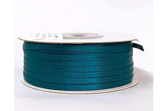 (Teal) - Ben Collection 0.3cm X 100 Yard Double Faced Satin Ribbon Art & Sewing Party Favour (Teal)