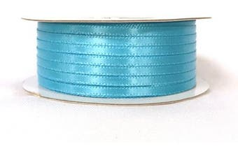 (Turquoise) - Ben Collection 0.3cm X 100 Yard Double Faced Satin Ribbon Art & Sewing Party Favour (Turquoise)