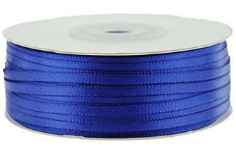 (Royal) - Ben Collection 0.3cm X 100 Yard Double Faced Satin Ribbon Art & Sewing Party Favour (Royal)