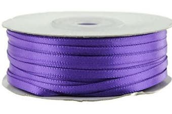 (Purple Haze) - Ben Collection 0.3cm X 100 Yard Double Faced Satin Ribbon Art & Sewing Party Favour (Purple Haze)