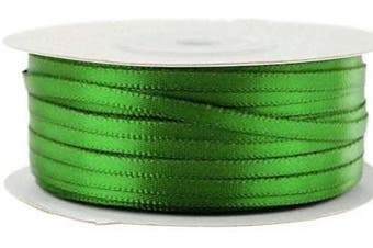(Emerald) - Ben Collection 0.3cm X 100 Yard Double Faced Satin Ribbon Art & Sewing Party Favour (Emerald)