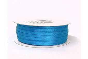 (Neon Blue) - Ben Collection 0.3cm X 100 Yard Double Faced Satin Ribbon Art & Sewing Party Favour (Neon Blue)
