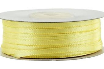 (Canary) - Ben Collection 0.3cm X 100 Yard Double Faced Satin Ribbon Art & Sewing Party Favour (Canary)
