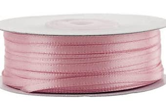(Dusty Rose) - Ben Collection 0.3cm X 100 Yard Double Faced Satin Ribbon Art & Sewing Party Favour (Dusty Rose)
