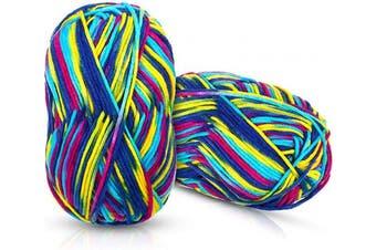 2 Rolls Craft Loops Weaving Loom Loops Multiple Coloured Loom Potholder Loops for DIY Crafts Supplies, 765 Yards
