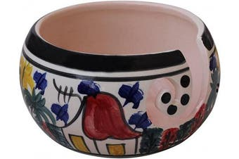 Today's Deals - abhandicrafts - 18cm Handcrafted Ceramic Knitting Yarn Bowl, Yarn Storage, Stop Yarn from Rolling, Knitting and Crochet Yarn Holder