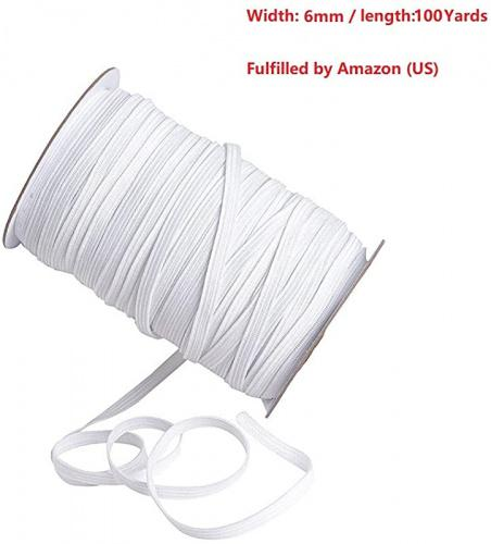 Black, 100Yards 100 Yards 1//4 inch Elastic for Sewing Bands,Elastic Rope//Elastic Cord Heavy Stretch High Elasticity Knit Elastic Band for Sewing Crafts DIY Cuff Bedspread