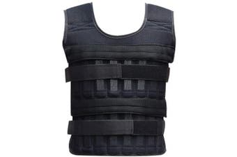 Elikliv 35kg Adjustable Weighted Workout Body Weight Vest Fitness Training Waistcoat Gym