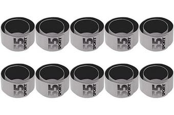 (Silver X 10) - 55 Sport Reflective Hi Vis Wrist Bracelets