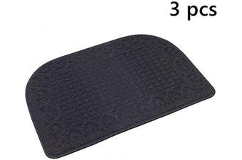 (27*46cm , Navy Navy Navy) - 70cm X 46cm Anti Fatigue Kitchen Rug Mats are Made of 100% Polypropylene Half Round Rug Cushion Specialised in Anti Slippery and Machine Washable (Navy 3pc)