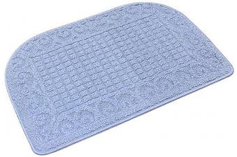 (27*46cm , Blue) - 70cm X 46cm Anti Fatigue Kitchen Rug Mats are Made of 100% Polypropylene Half Round Rug Cushion Specialised in Anti Slippery and Machine Washable (Blue 1pc)