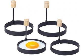 Happy Sales HSS-ERH4, Non-stick Egg Ring, Set of 4