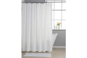 (180cm  W x 180cm  H, White) - AmazerBath Lightweight Shower Curtain Liner, 72x72 PEVA 3G Shower Curtain Liner with Magnets and 12 Rust-Resistant Grommet Holes, Waterproof Thin Plastic Liners Without Funky Smell - White