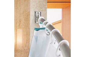 (Brush Nickel) - PrettyHome Adjustable Curved Shower Curtain Rod Rustproof Expandable Aluminium Metal Shower Rod 38-180cm Telescoping Design Exquisite Customizable for Bathroom,Brushed Nickel