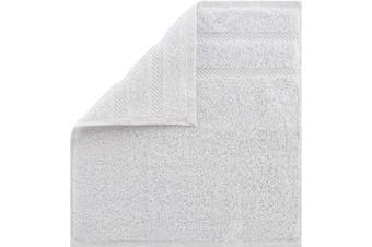 (4 Pieces Washcloth, White) - American Soft Linen Premium Turkish Genuine Cotton, Luxury Hotel Quality for Maximum Softness & Absorbency for Face, Hand, Kitchen & Cleaning (4-Piece Washcloth Set, Bright White)