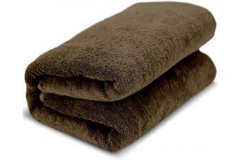 (Cocoa) - Towel Bazaar 100% Turkish Cotton Multipurpose Towels-Large Bath Sheet/Beach Towel/Bath Towel, Eco-Friendly (Oversized 100cm x 200cm , Cocoa)…