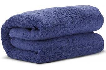 (Navy Blue) - Towel Bazaar 100% Turkish Cotton Multipurpose Towels-Large Bath Sheet/Beach Towel/Bath Towel, Eco-Friendly (Oversized 100cm x 200cm , Navy Blue)…