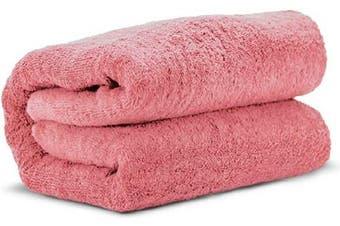 (Pink) - Towel Bazaar 100% Turkish Cotton Multipurpose Towels-Large Bath Sheet/Beach Towel/Bath Towel, Eco-Friendly (Oversized 100cm x 200cm , Pink)…