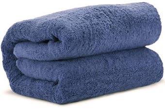 (Wedgewood) - Towel Bazaar 100% Turkish Cotton Multipurpose Towels-Large Bath Sheet/Beach Towel/Bath Towel, Eco-Friendly (Oversized 100cm x 200cm , Wedgewood)…