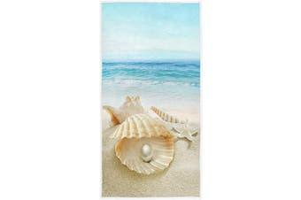 (Shell Pearl) - Starfish Shell Pearl Beach Hand Towels 41cm x 80cm Beach Sea Ocean Marine Nautical Sand Bathroom Towel Soft Absorbent Summer Wave Small Bath Towel Kitchen Dish Guest Towel Home Bathroom Decorations