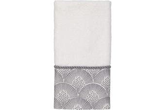 (One Size, White) - Avanti Linens Deco Shell Fingertip Towel, One Size, White